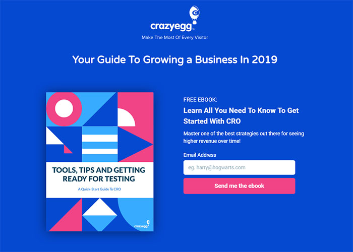 Landing Page Example - CrazyEgg Software