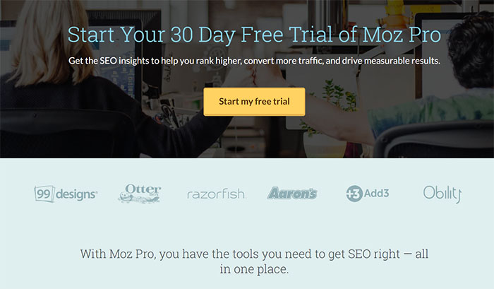 Landing Page Example - Moz