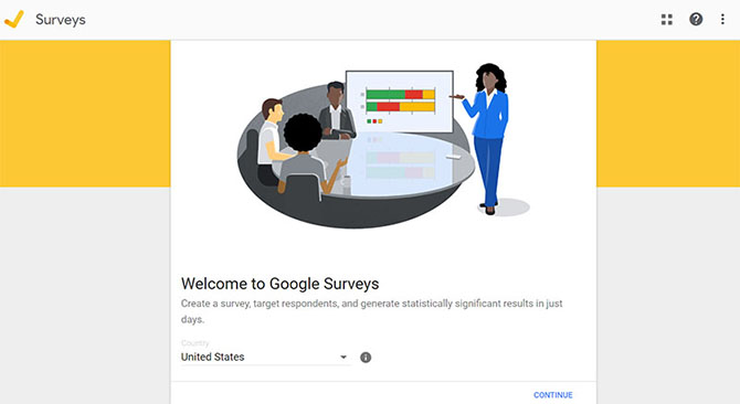 Google Surveys Homepage - Chainlink Marketing