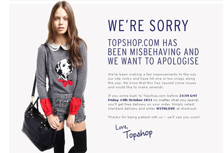 Website Malfunction Customer Experience Issue Topshop - Chainlink Marketing
