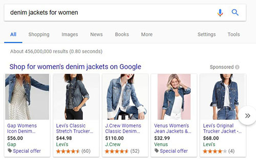 Google Shopping Ads Example Image - Chainlink Marketing