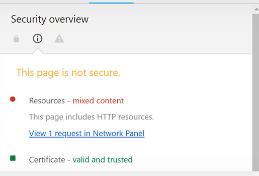 Mixed Content Security Threat Warning Chrome - Chainlink Marketing