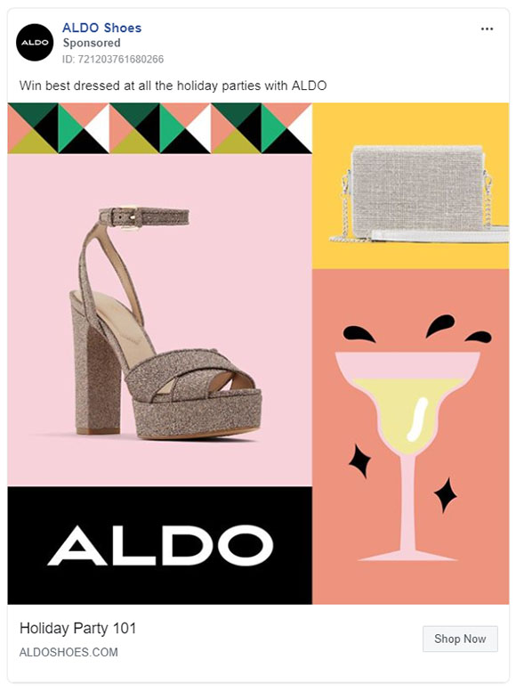 Facebook Ads - Apparel Ad Example - Aldo
