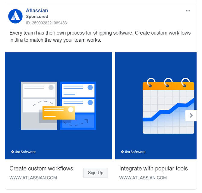 Facebook Ads - Business Tool Ad Example - Atlassisan