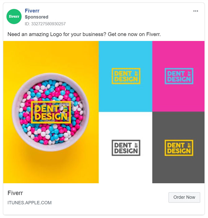 Facebook Ads - Business Tool Ad Example - Fiverr