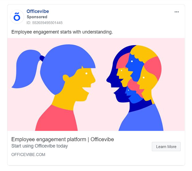 Facebook Ads - Business Tool Ad Example - Officevibe